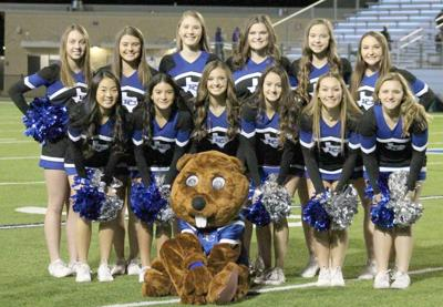 Falls City Beaver varsity cheerleaders competing at UIL state event