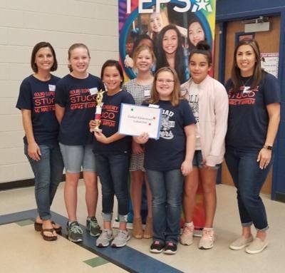 Elementary student council takes second win for work in community