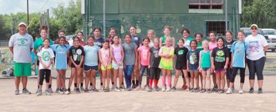 Turnout widespread for softball camp