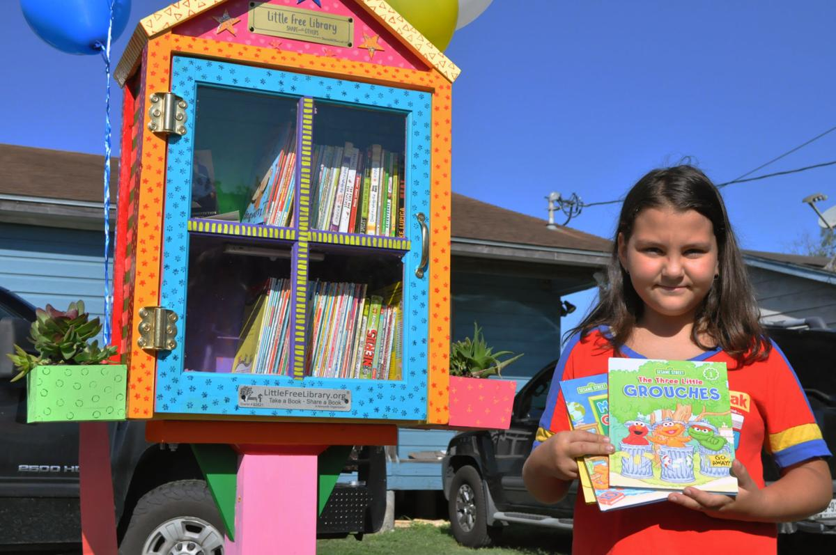 Third grader establishes 'Free Little Library' in Sinton
