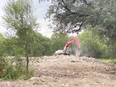 McMullen County clearing land for park