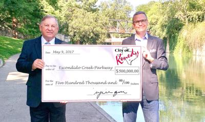 $500,000 donation from city of Kenedy moves Escondido Creek Parkway Project's funding past halfway point