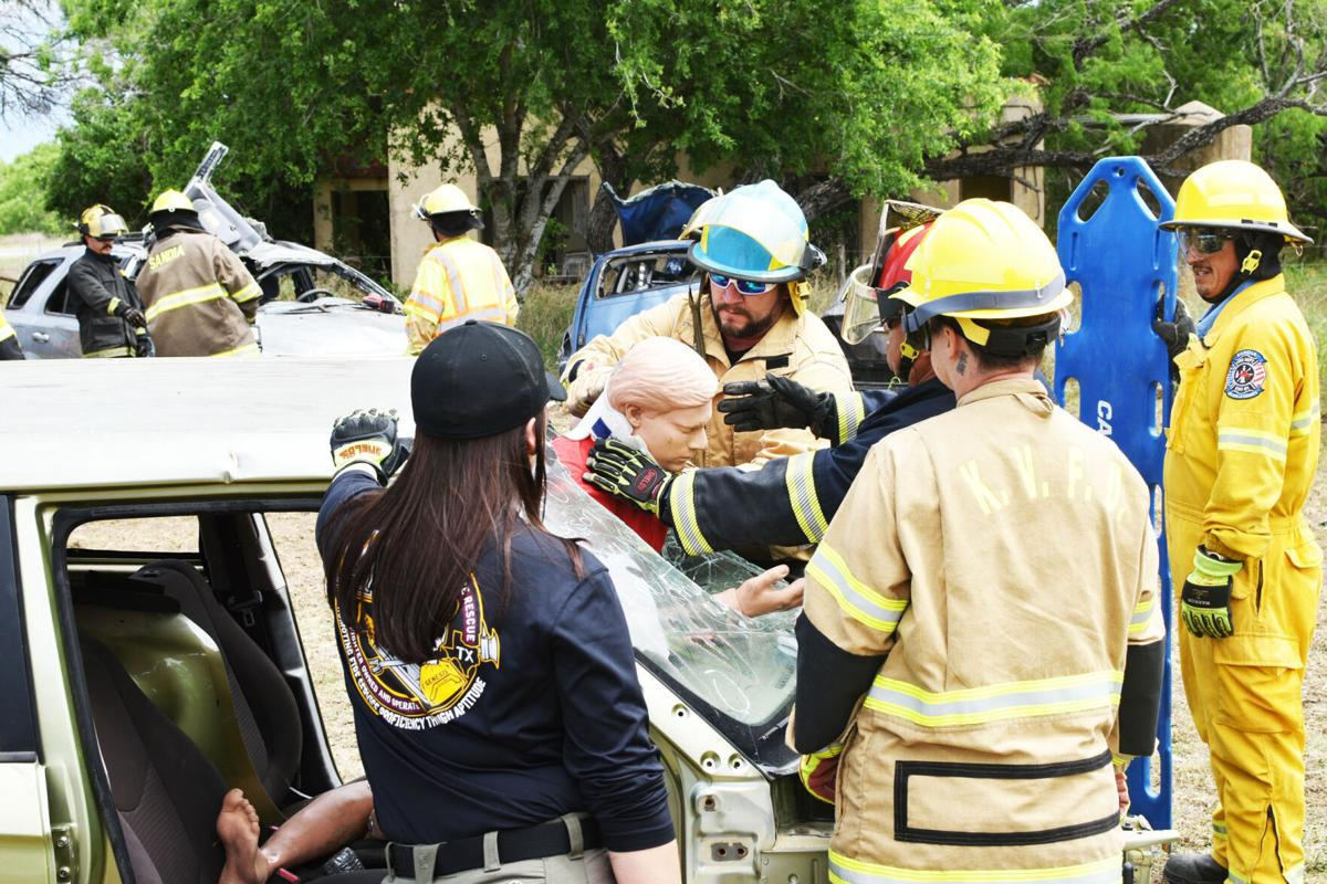 Volunteer firefighters train together for state certification