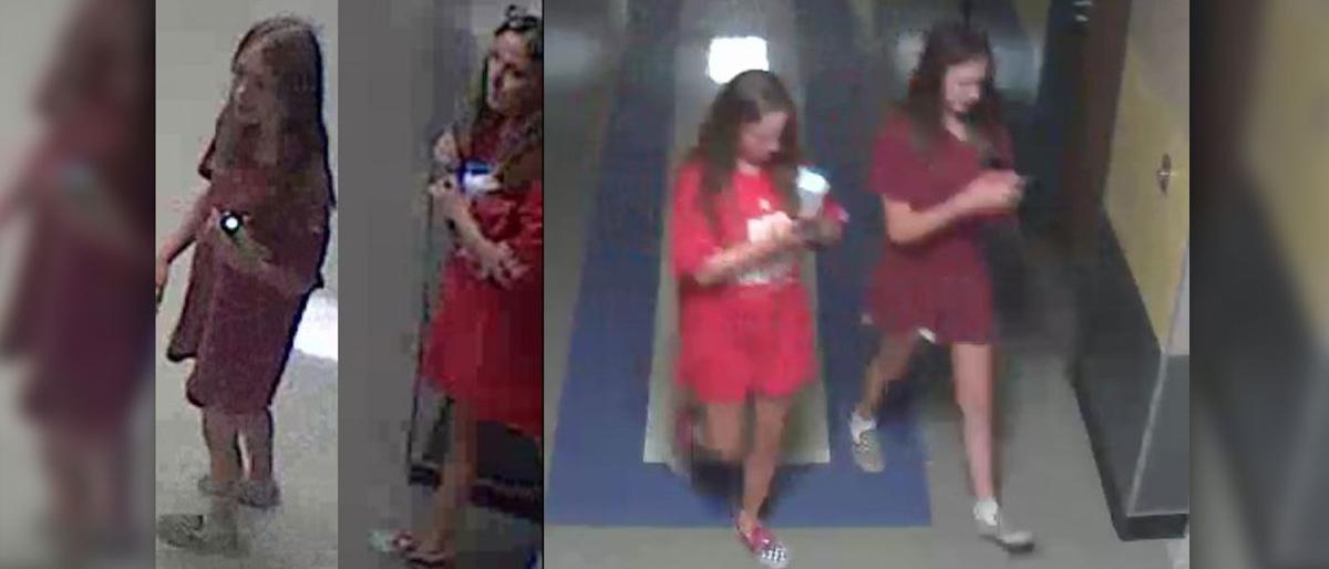 Police seeking two teen girls who caused over $300,000 in damages to junior high school campus