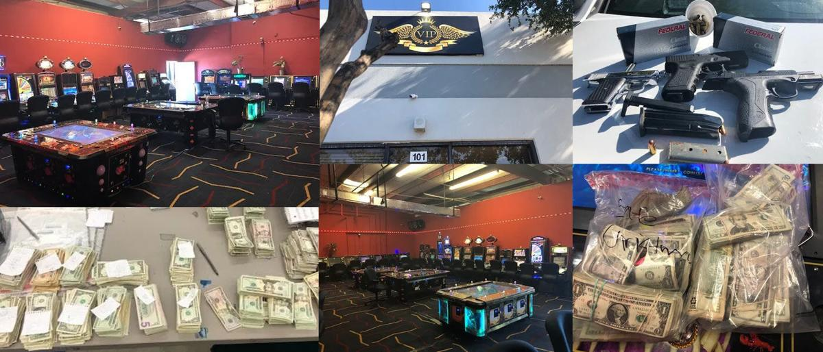 Dallas PD Vice Unit raids 'gambling shack,' seizes more than $26,000, two handguns, and 54 gambling machine motherboards