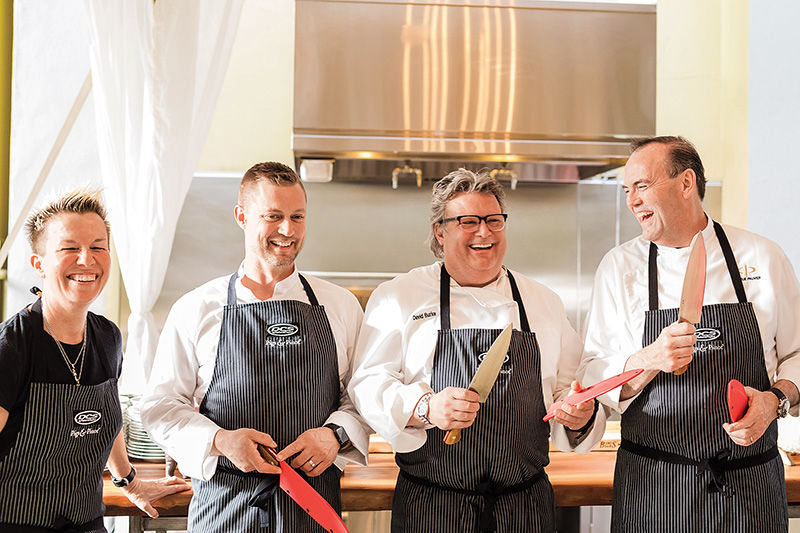 Chef Jeffrey Jake, far right, from the Silverado Resort and Spa