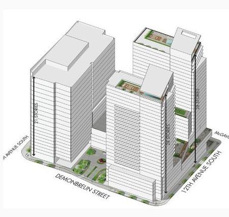Déjà Vu site eyed for three towers