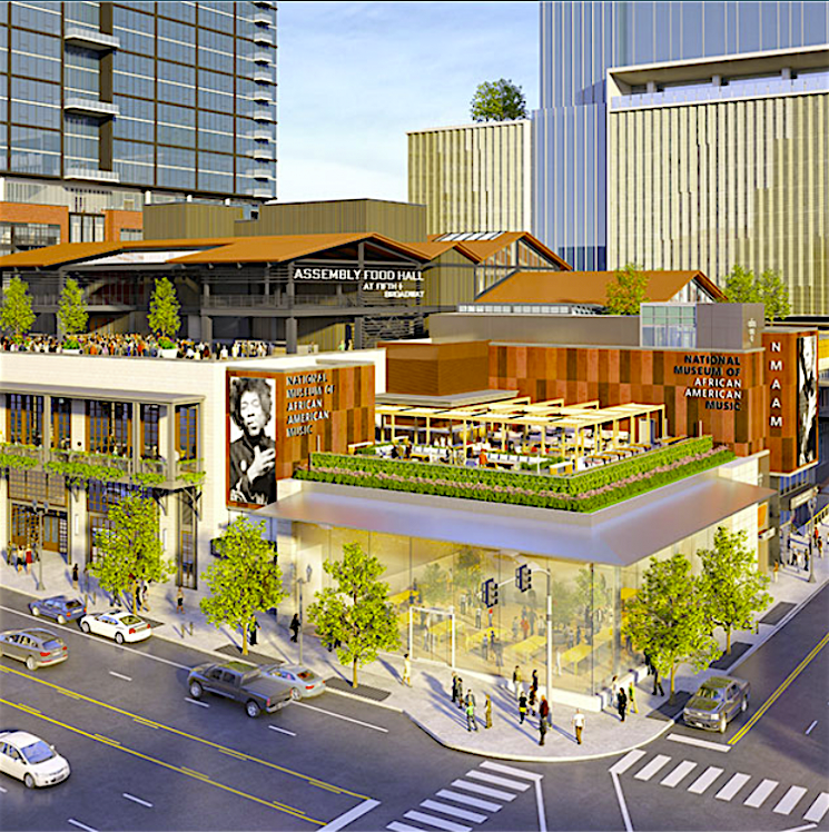 Fifth + Broadway's food hall sets debut