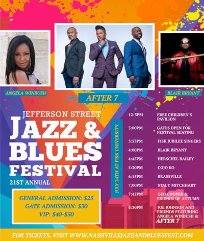 Jefferson Street Jazz and Blues Festival Flyer 2021