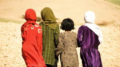 Four Afghanistan girls