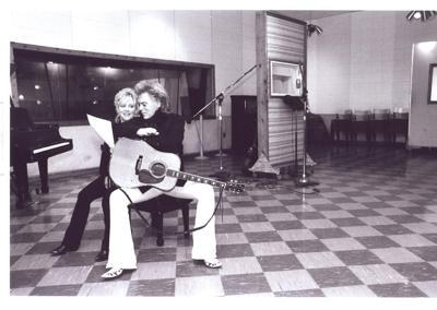 Connie Smith and Marty Stuart at RCA Studio B