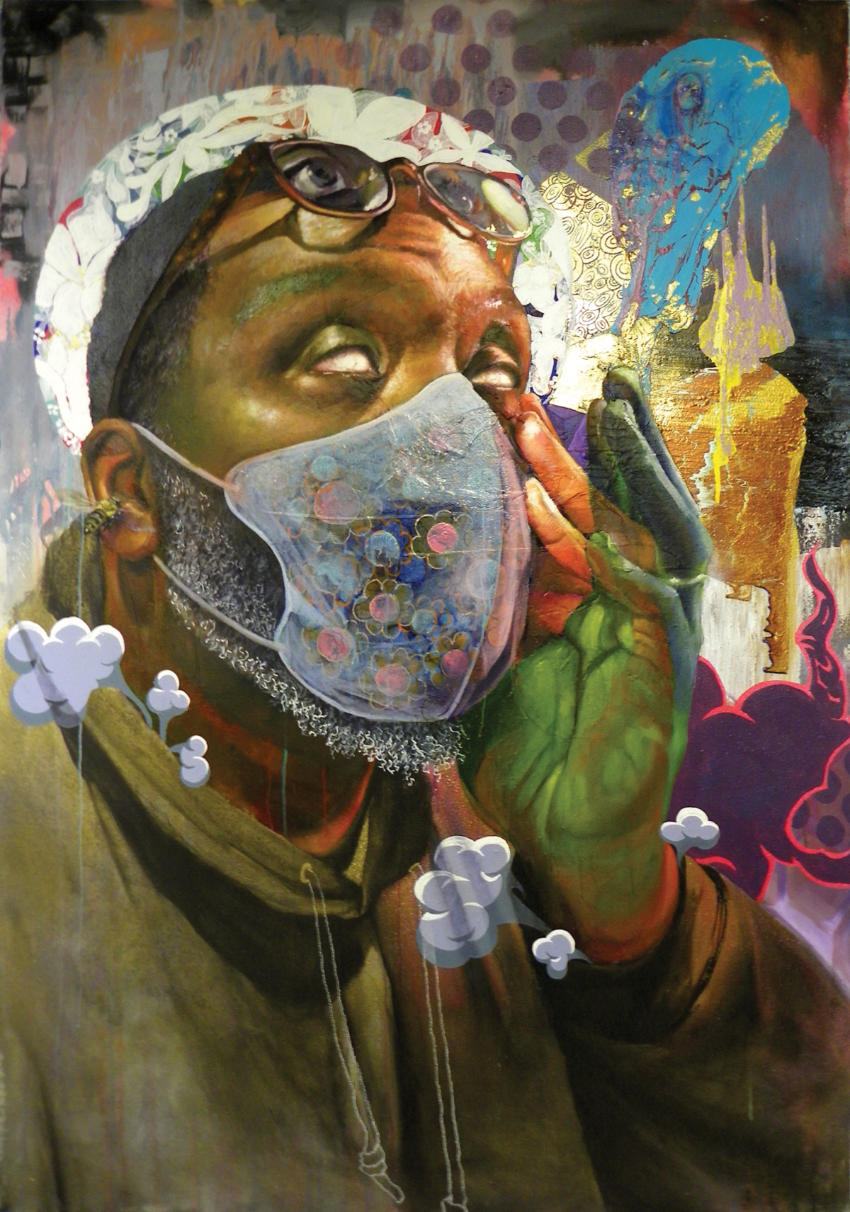 New Paintings by Sam Dunson Examine Black Male Demise
