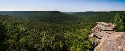 Welch's Point at Virgin Falls State Natural Area in Central Tennessee