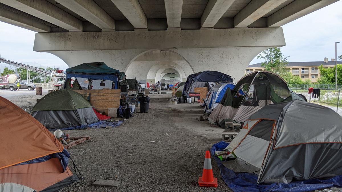 Housing Advocates Speak Out Against Jefferson Street Bridge Camp Closure