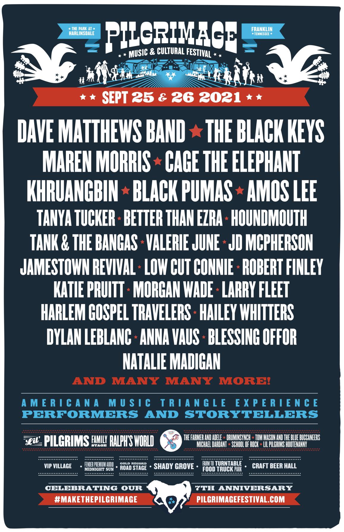 Maren Morris, The Black Keys, Dave Matthews Band Top Initial Pilgrimage Lineup