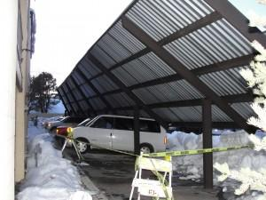 Carport Awning Collapse At Flagstaff Apartment Complex