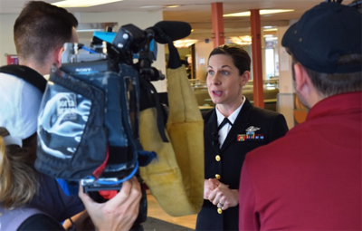 Face of defense: Navy nurse saves man's life on ferry trip