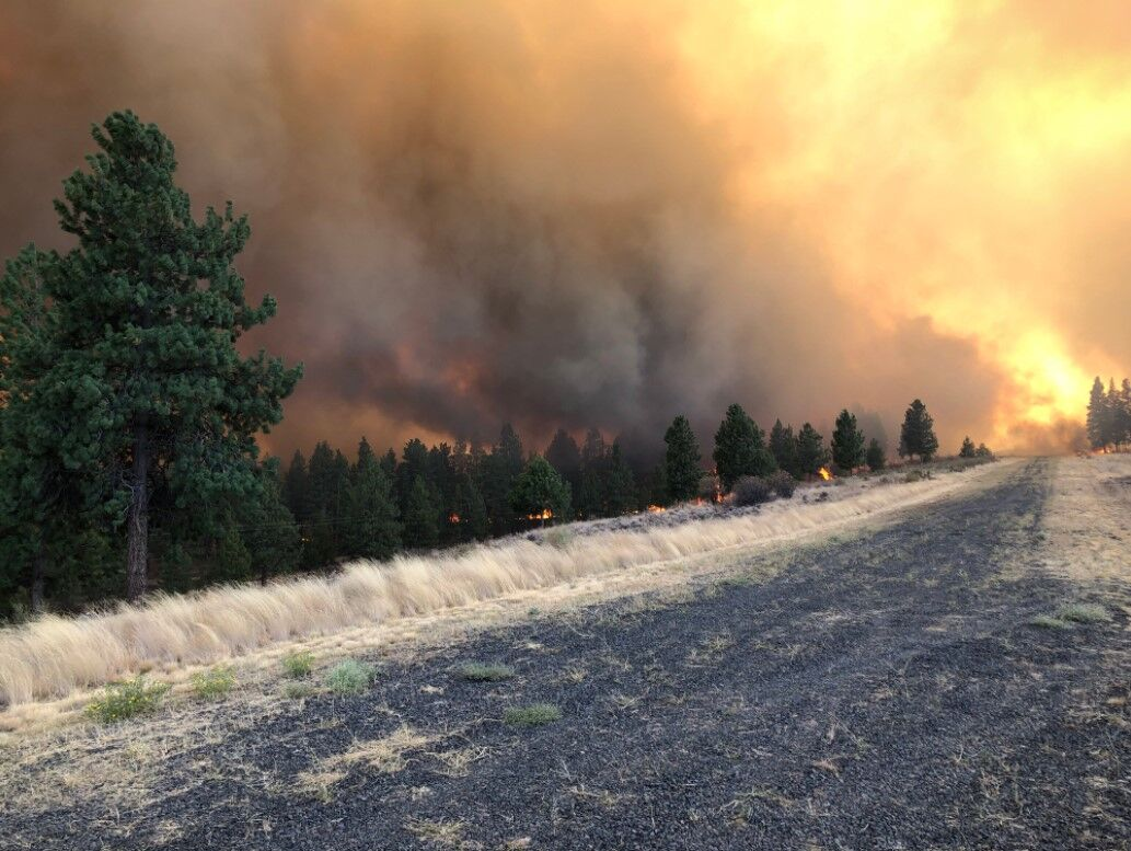 Evans Canyon Fire NW of Naches