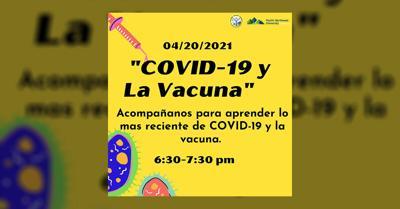 """""""COVID-19 y La Vacuna"""" Live Event on Facebook"""