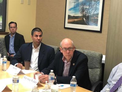 FCC Chairman Ajit Pai and Oregon Rep. Greg Walden visit Hermiston
