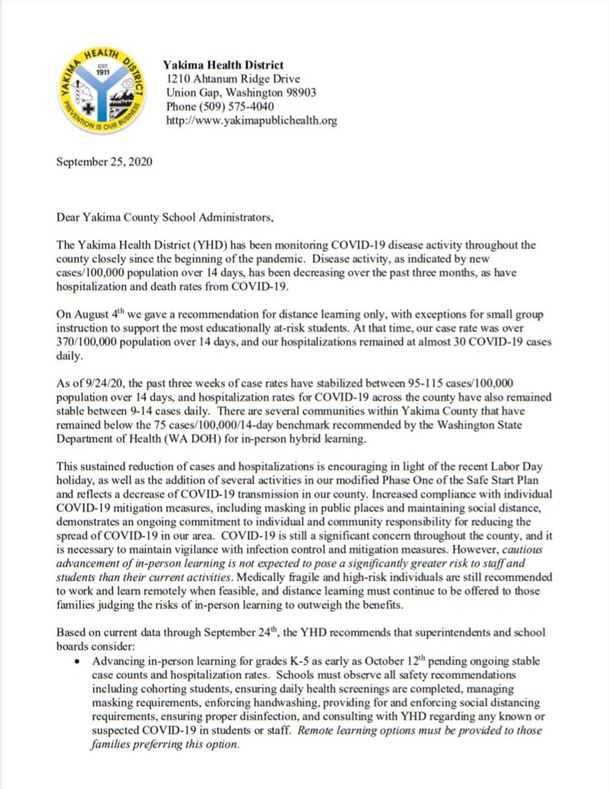 Dear Yakima County School Administrators 1