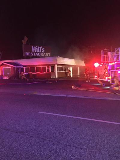 Early morning structure fire at Hill's Restaurant