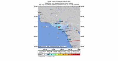 4.0 magnitude earthquake strikes in Los Angeles area
