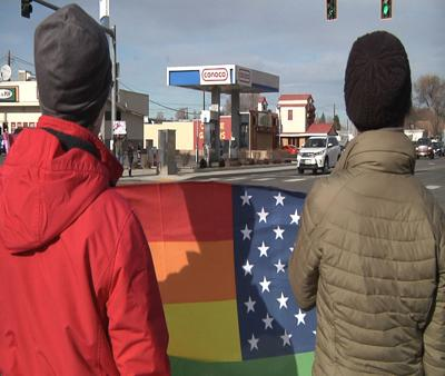 Several rally in Pasco for gay man who was beaten