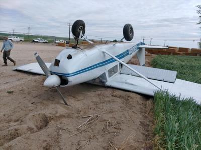 Plane flips onto roof, minor injures reported