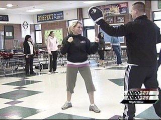 Women and Children Taking RAD Self-Defense Classes