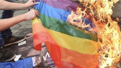 'Appalling act of hate': CWU student steals Pride flag from SURC, recorded lighting it on fire for social media
