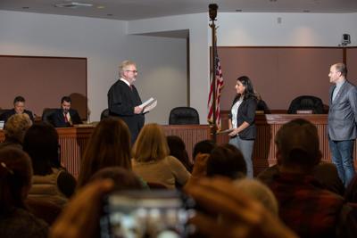 Zahra Roach is sworn in