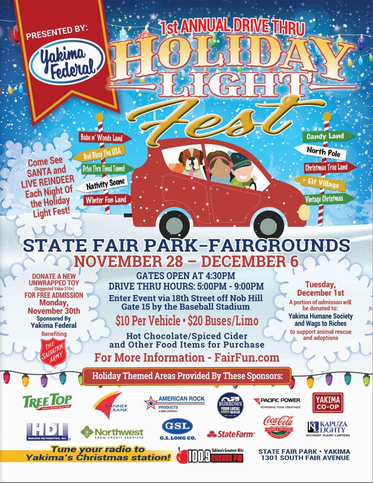 POSTER Drive-Thru Holiday Light Fest at State Fair Park