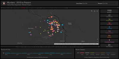 """Yakima police release a """"Murder Map"""" displaying all murders in Yakima from 2020 to now"""