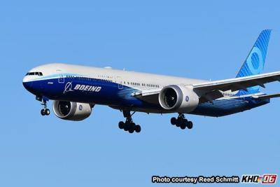Boeing 777X makes first appearance at Spokane International Airport