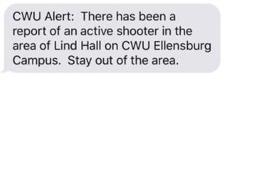 shooting text