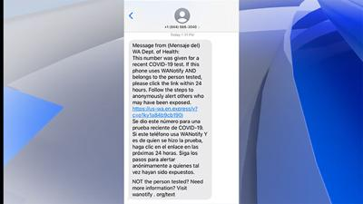 New texts from Department of Health will speed exposure notification across the state