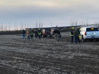 Small plane lands safely in field after engine loses power