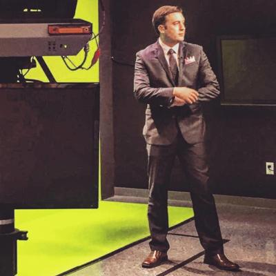 Scott on the set.