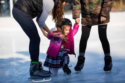 Kids snow skating