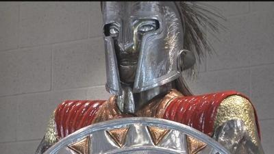 Granger High School gets new, handmade Spartan statue