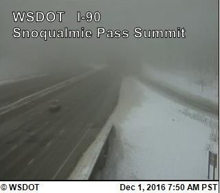 Weather causes multiple accidents overnight on Snoqualmie Pass