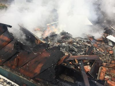 House destroyed after fire on Christmas day