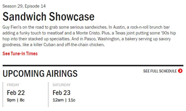 sandwich showcase