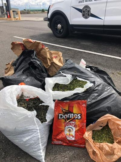 WSP troopers discover several bags full of weed, one empty bag of Doritos in Pasco