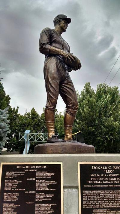 Bronze Statue Honoring Pendleton Coach Unveiled