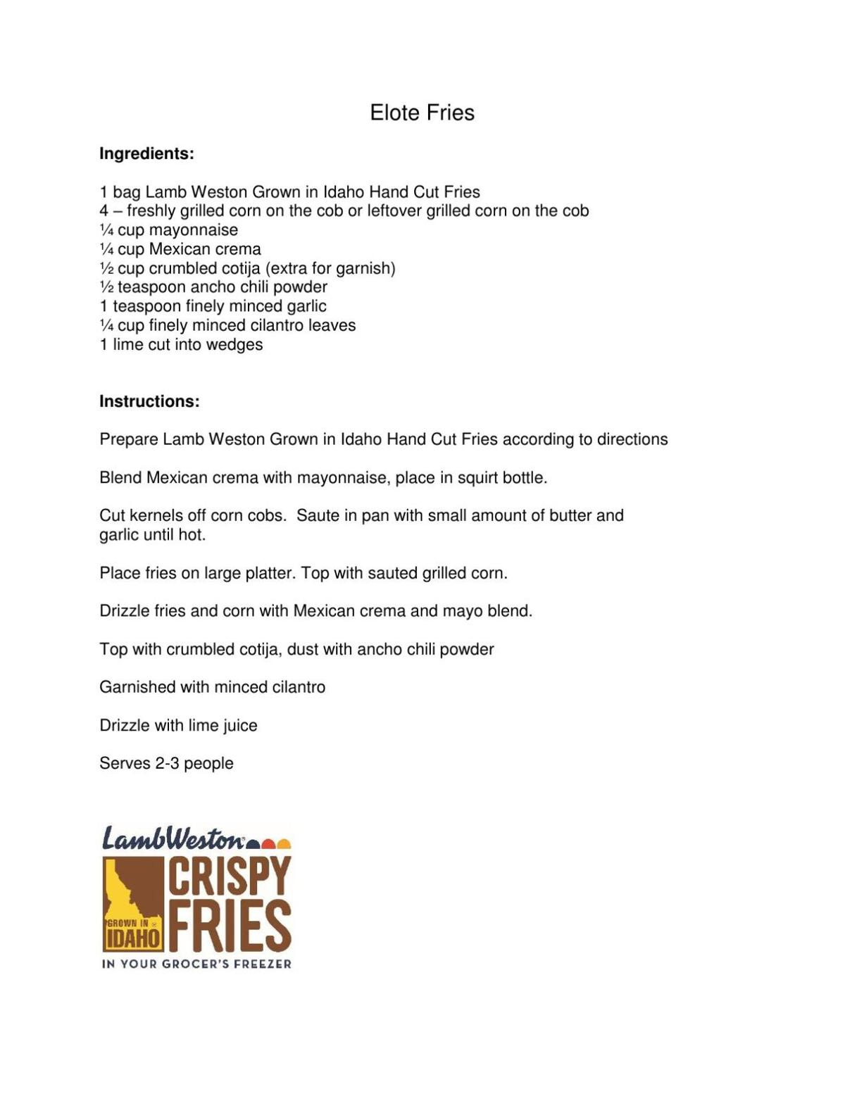July 13th - Elote Fries