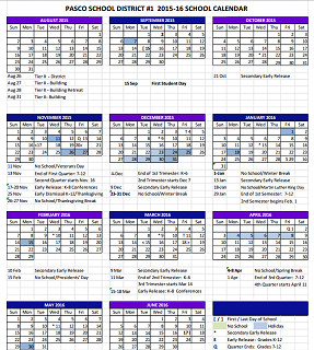 Yakima School District Calendar 2019 Updated Pasco School Calendar 2015 16 | Archives | nbcrightnow.com
