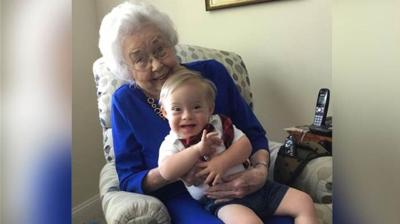 The original Gerber baby, 91, met the newest one in an adorable photo