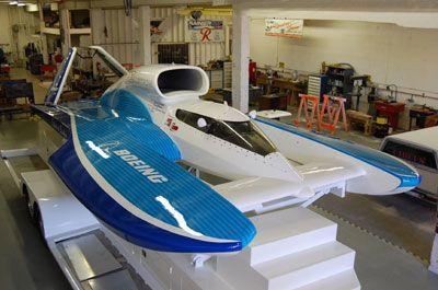 "U-787:  Boeing and Ellstrom team hook up to show off ""new"" Unlimited Hydroplane in Seattle"